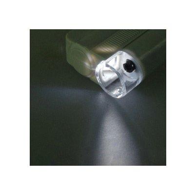 روشنایی لاپ ال ایی دی میکروسکوپ جیبی - لوپ جیبی چراغدار با بزرگنمایی 100 برابر