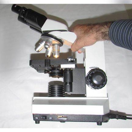 مشاهده ابعاد میکروسکوپ بیولوژی 1600 برابر مدل XSZ-801BN