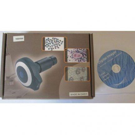کارتن و سی دی دوربین 5 مگاپیکسلی مخصوص انواع میکروسکوپ بیولوژی