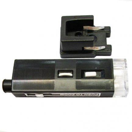 نمای پهنا و پایه میکروسکوپ جیبی زومیک چراغدار 60-80-100 برابر