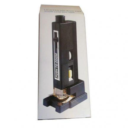 جعبه میکروسکوپ جیبی زومیک چراغدار 60-80-100 برابر