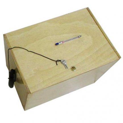 جعبه چوبی میکروسکوپ بیولوژی 1600 برابر مدل XSZ-801 BN (میکروسکوپ طرح المپیوس)
