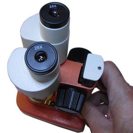 نمای لنزهای چشمی لوپ 50 برابر دو چشمی