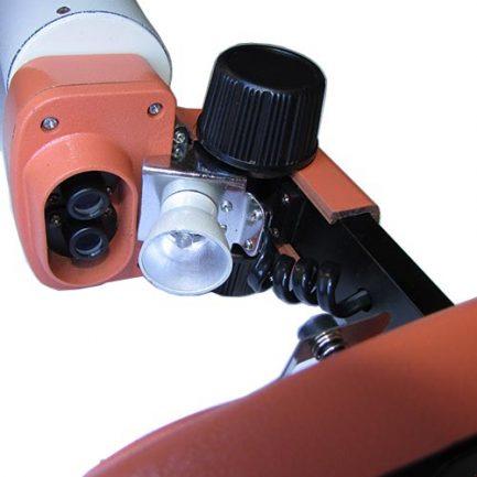 نمای لامپ و لنزهای شیئی استریو میکروسکوپ 50 برابر