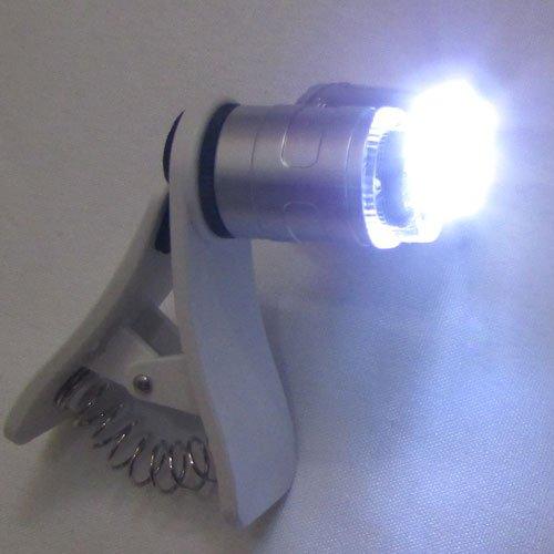 نور لامپ های LED میکروسکوپ موبایل 60 برابر دارای کلیپس مخصوص - Universal-Clip-Type-LED-Cellphone-Microscope-60X