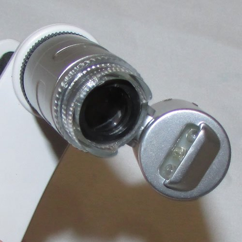 لنز و سیستم نور دهی میکروسکوپ موبایل 60 برابر دارای کلیپس مخصوص - Universal-Clip-Type-LED-Cellphone-Microscope-60X