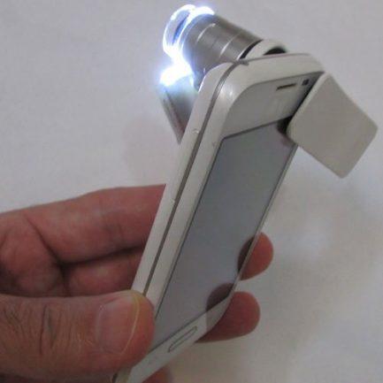 نحوه نصب میکروسکوپ موبایل 60 برابر دارای کلیپس مخصوص - Universal-Clip-Type-LED-Cellphone-Microscope-60X