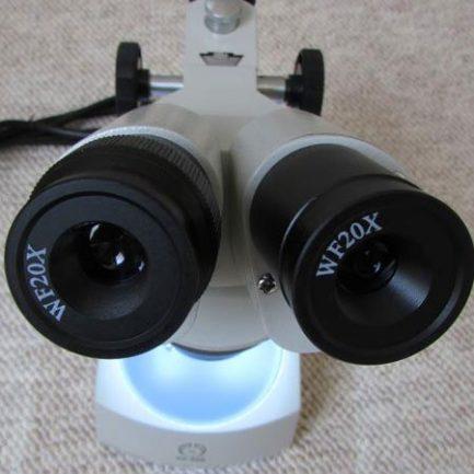 نمای عدسی های چشمی استریو میکروسکوپ 80 برابر - لوپ 80 برابر دوچشمی مدل KE-56B