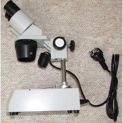 نمای بغل استریو میکروسکوپ 80 برابر - لوپ 80 برابر دوچشمی مدل KE-56B