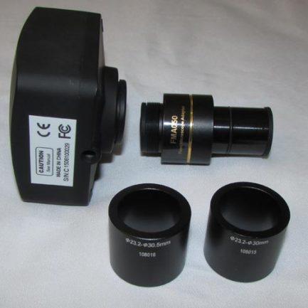 متعلقات دوربین 14 مگاپیکسلی مخصوص انواع میکروسکوپ و استریومیکروسکوپ Industrial Digital Camera Accessories