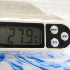 نمای نمایشگر دماسنج دیجیتال سیخ دار مناسب برای غذا ، خاک ، آسفالت و ...