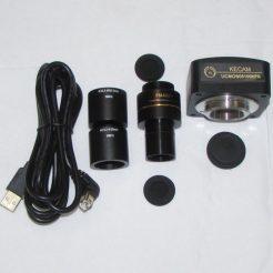 بدنه اصلی و رابط ها و کابل اتصال دوربین میکروسکوپ دیجیتالی
