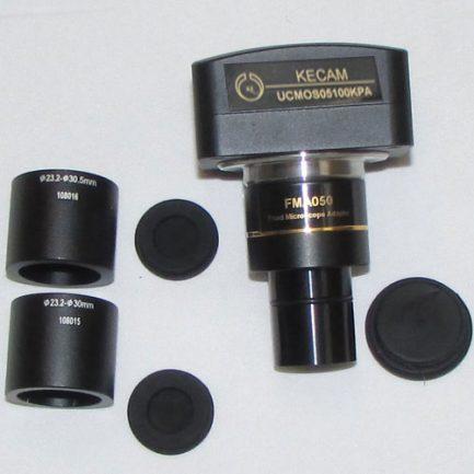 نصب رابط ها به بدنه اصلی دوربین میکروسکوپ دیجیتالی