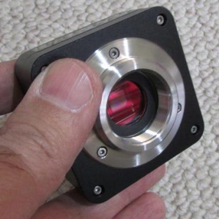 نمای دریچه چشمی دوربین میکروسکوپ 5 مگاپیکسلی