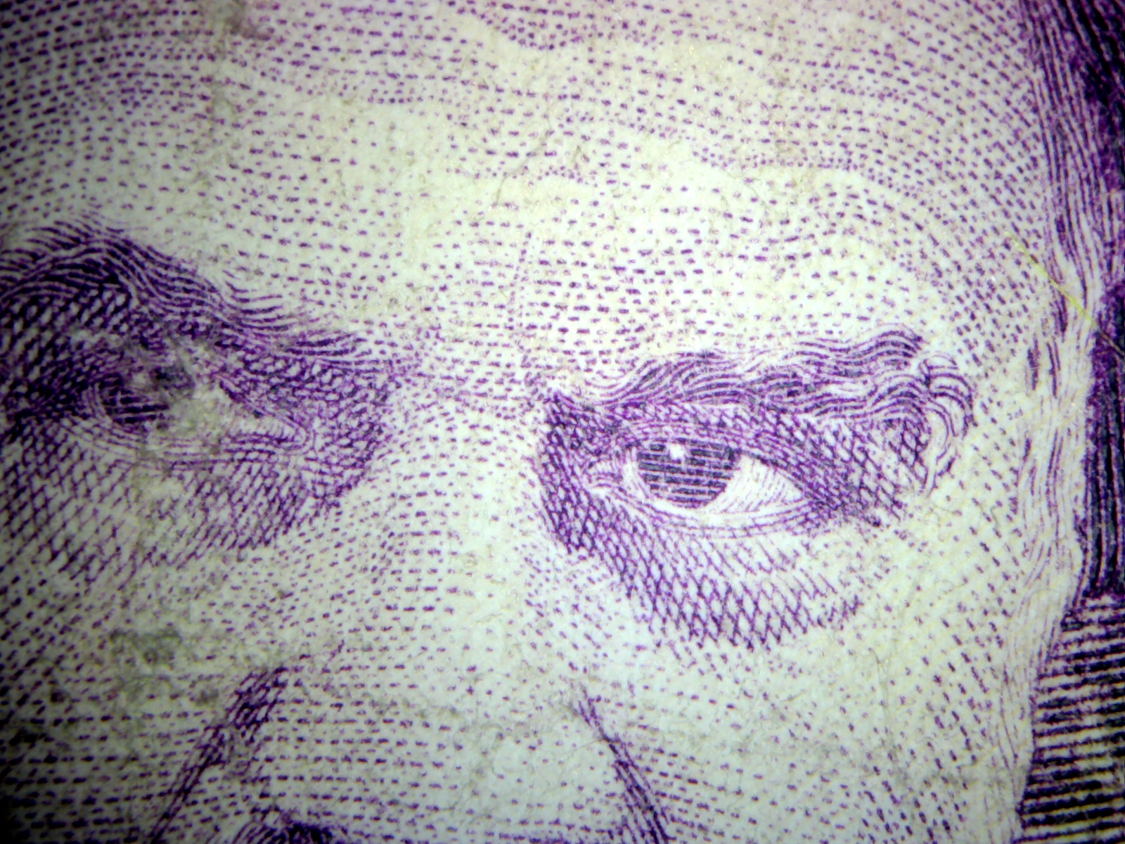 اسکناس 5هزار تومانی فوکوس از 3 سانتیمتری