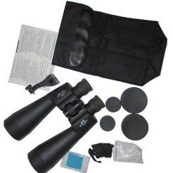 محتویات بسته بندی دوربین نجومی شکاری بریکر 80*15 شامل: کیف حمل ، رابط اتصال به سه پایه ، دفترچه ، در پوش لنزها ، بند ، دستمال تنظیف