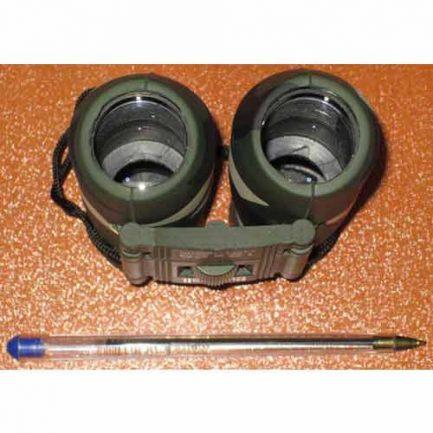 نمای عدسی های شیئی دوربین شکاری بوشنل جیبی مدل bushnell binoculars 12x25