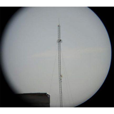 تست دوربین دو چشمی بوشنل جیبی - دید دکل از فاصله 300 متری