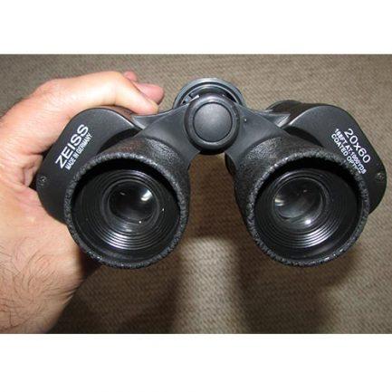 نمای عدسی های چشمی دوربین شکاری زایس 20x60