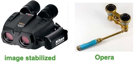 نمایی از دوربین های اوپرا opera و image stabilized