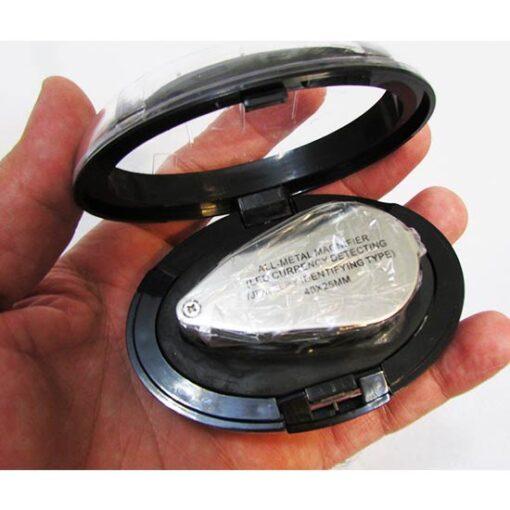 کیس تلقی شکل لوپ جواهر شناسی و زمین شناسی 40X با قطر 25 میلیمتر