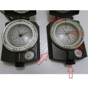 مقایسه تفاوت های یک مدل تقلبی با مدل اصلی قطبنمای سانتو