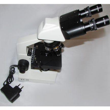 اتصال آداپتور برق شهری به میکروسکوپ 1600 برابر بیولوژی دو چشمی مدل Ke-20