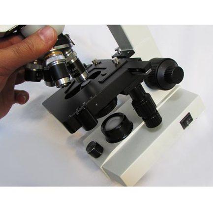 نمای عدسی های شیئی و استیج میکروسکوپ 1600 برابر بیولوژی دو چشمی مدل Ke-20