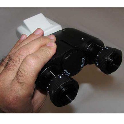 نمای هد میکروسکوپ 1600 برابر بیولوژی دو چشمی مدل Ke-20