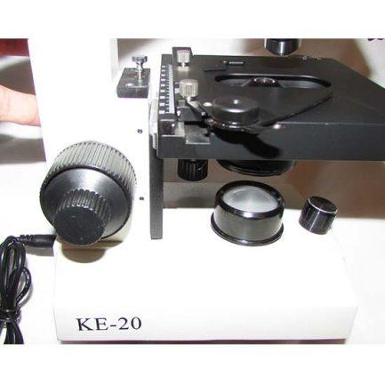 نمای لامپ ال ایی دی میکروسکوپ 1600 برابر بیولوژی دو چشمی مدل Ke-20