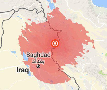 زلزله شدید در ایران _ غرب کشور - و عراق