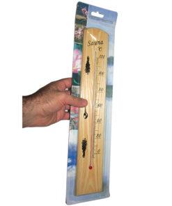 مشاهده ابعاد دماسنج سونا با در دست گرفتن