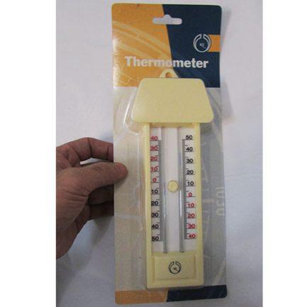 بسته بندی دماسنج حداقل حداکثر جیوه ای کلید دار کرم رنگ