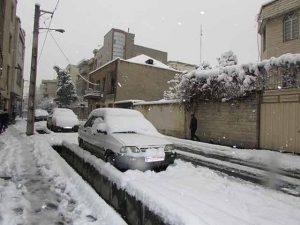 ماشین های مدفون شده در زیر برف اخیر استان تهران و البرز