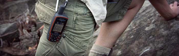 جی پی اس 62 اس و گیره کارابین آن برای نصب بروی لباس