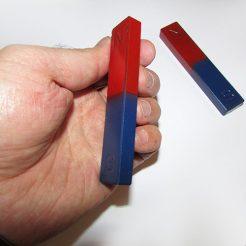 آهنربای مکعبی (آهنربای تخت) پک دو عددی با دو رنگ قرمز و آبی