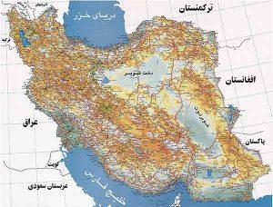نقشه کامل کشورایران - دانلود نقشه ایران