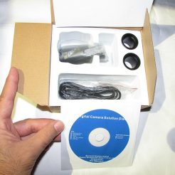 نمایی از جعبه گشایی دوربین میکروسکوپ ۲ مگاپیکسلی