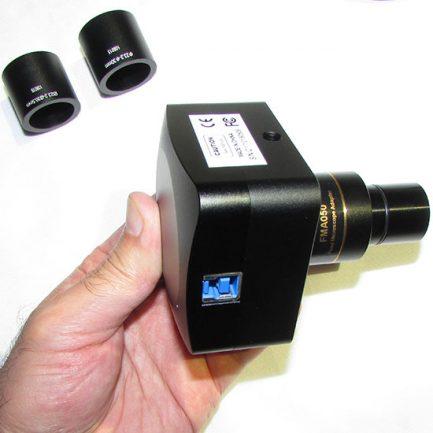 مشاهده محل اتصال پورت usb در microscope ccd camera usb3 5mp