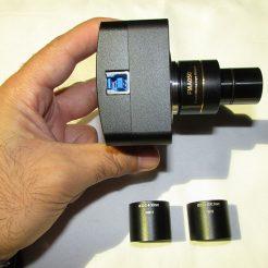 مشاهده ابعاد و رابط های مخصوص استریو میکروسکوپ دوربین دیجیتال میکروسکوپ ۵ مگاپیکسل
