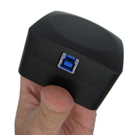 نمای کانکتور دوربین میکروسکوپ CCD 18 MP دارای پورت USB3