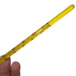 نمای دیگر از درجه بندی های ترمومتر میله ای الکلی پشت زرد سلسیوس/فارنهایت
