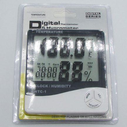 نوع بسته بندی دماسنج دیجیتالی دارای رطوبت سنج و تقویم مدل HTC1