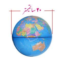 ابعاد مدل کره زمین با قطر ۲۰ سانتیمتر زبان انگلیسی