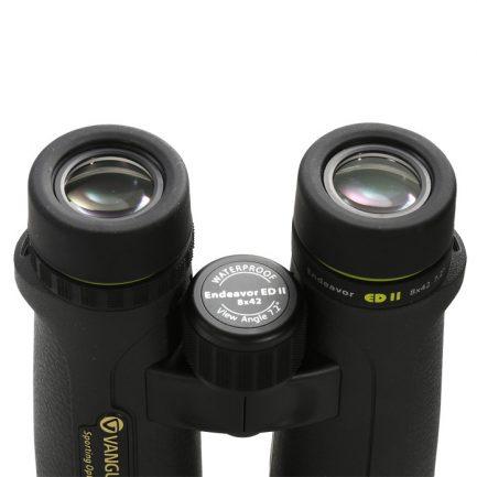 نمای لنزهای چشمی دوربین ونگارد مدل Endeavor ED II 8x42